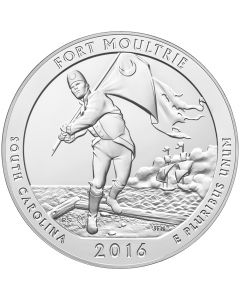 2016 Fort Moultrie 5 oz Burnished Silver Coin - America The Beautiful