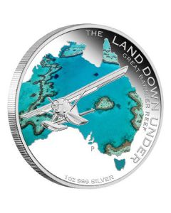 The Land Down Under Great Barrier Reef 1 oz Silver Proof Perth Mint
