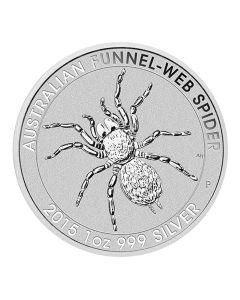 2015 Australian Silver Funnel-Web Spider 1 oz BU - Perth Mint