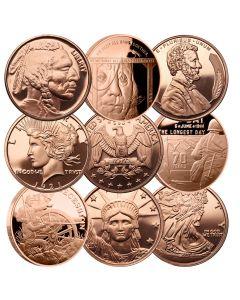 1 oz Copper Round - Random Design