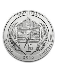 2015 Silver 5 oz ATB Homestead America The Beautiful
