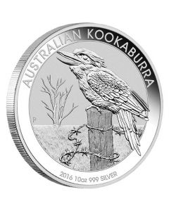 2016 10 oz Silver Australian Kookaburra Perth Mint