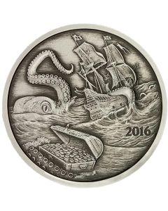 Silverbug Island Kraken 1 oz Silver Proof Antiqued Finish - Mintage of 2000