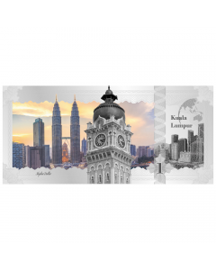 2017 Cook Islands 5 Gram Silver Banknote (Kuala Lumpur Skyline Dollar)