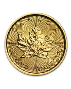 2017 1/20th oz Canadian Gold Maple Leaf BU