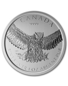 2015 1 oz Silver Great Horned Owl - RCM Birds of Prey Series
