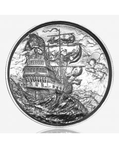 2 oz Privateer Ultra High Relief Silver Round