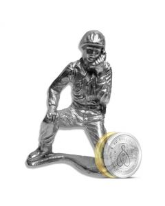 Radio Man Silver Soldier - Hand Poured .999 Silver Army Men