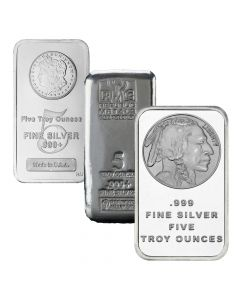 Buy 5 Oz Silver Bars I Lowest Price Guaranteed