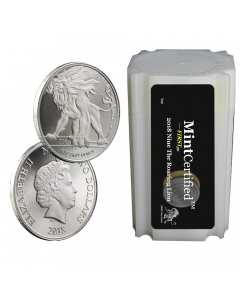 2018 Roaring Lion Silver Coin Tube - MintCertified First30™