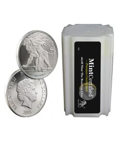 2018 Roaring Lion Silver Coin Tube - MintCertified™