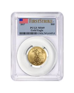 2017 1/4 oz PCGS MS-69 First Strike Gold American Eagle