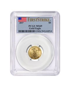 2017 1/10 oz PCGS MS-69 First Strike Gold American Eagle