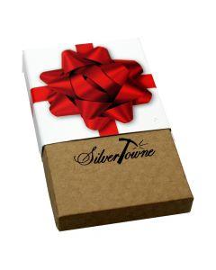 SilverTowne Holiday Gift Box - Red Ribbon (1 oz Bar)