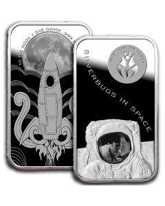 Silverbugs In Space - To The Moon - 1 oz Silver Bar