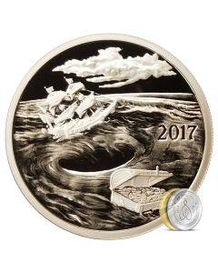 Silverbug Island Whirlpool 1 oz Silver Mirror Proof
