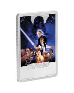 2017 Star Wars Return of the Jedi Movie Poster Silver Coin