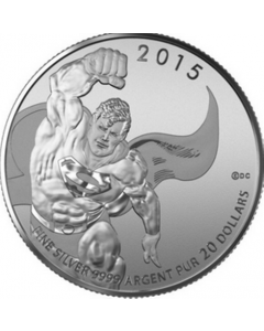 2015 Superman DC Comics .9999 Fine Silver 1/4 oz Proof - $20 - RCM