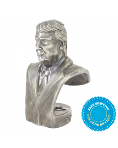 Donald J. Trump Presidential Bust 20 oz Sterling Silver Statue