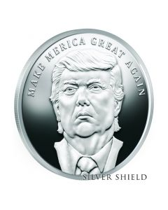 2017 Silver Shield Make Merica Great Again MicroMintage 1 oz Trump Proof