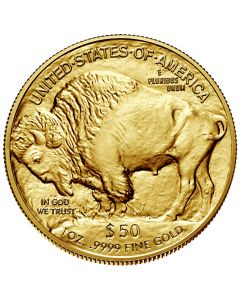 1 oz Gold Buffalo Coin .9999 Fine - Random Dates