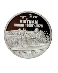 Heroes SDWC War is Hell 1 oz Silver Proof in Collector's Box .999