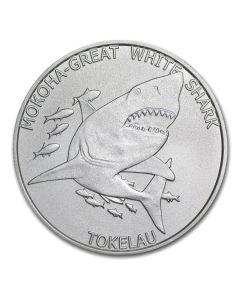 2015 Tokelau 1 oz Silver Mokoha Great White Shark