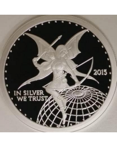 Silverbug Archer Ariana 1 oz Silver Proof - In Silver We Trust