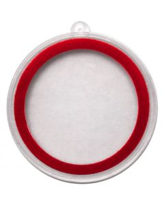 Christmas Ornament Plastic Capsule - 1 oz Round or Coin