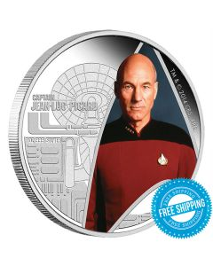 STAR TREK:THE NEXT GENERATION - CAPTAIN PICARD 1OZ SILVER PROOF