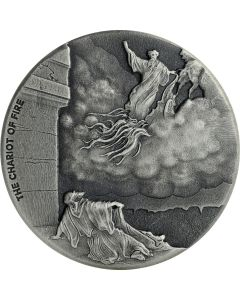 2018 2 oz Chariot of Fire Biblical Silver Coin Series