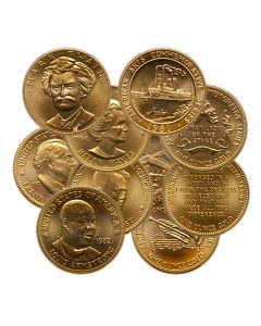1 oz US Commemorative Arts Gold Medal (Random Design)