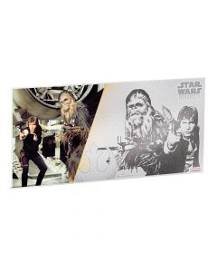 Star Wars A New Hope 5g Silver Foil - Han Solo & Chewbacca
