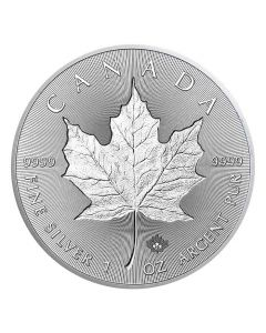 2019 Canadian Silver Incuse Maple Leaf Coin BU