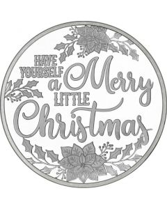 2018 1 oz Merry Little Christmas Silver Round