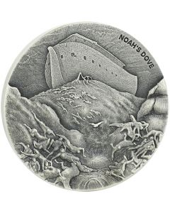 2018 2 oz Noah's Dove Biblical Silver Coin Series