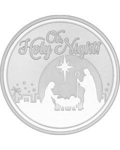 2018 1 oz 'Oh Holy Night!' Nativity Silver Round