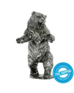 Ozzy the Bear 12 oz Sterling Silver Statue