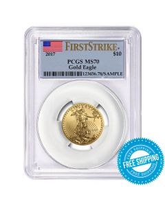 2017 1/4 oz PCGS MS-70 First Strike Gold American Eagle