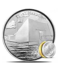 2 oz Silver Pearl Harbor Ultra High Relief Round - American Landmarks Series