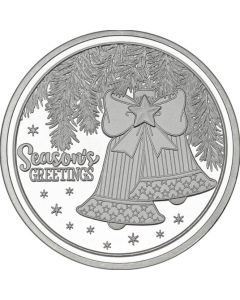 2018 1 oz Holiday Bells Silver Round