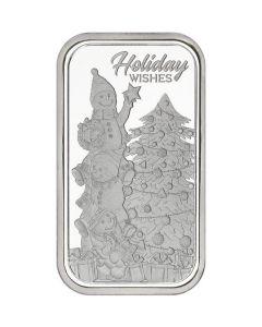 2018 1 oz Snowmen Holiday Wishes Silver Bar