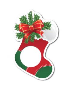 Christmas Stocking Foam Core Ornament - 1 oz Round or Coin