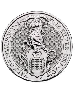 2019 2 oz Queen's Beasts The Yale of Beaufort Silver Coin