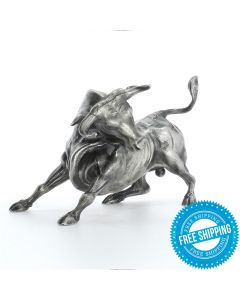 Troy the Bull 8 oz Sterling Silver Statue