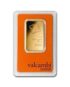 1oz Valcambi Gold Bar - in Assay