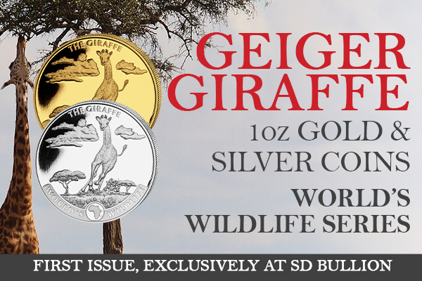 SD Bullion Exclusive: First Ever Geiger Running Giraffe