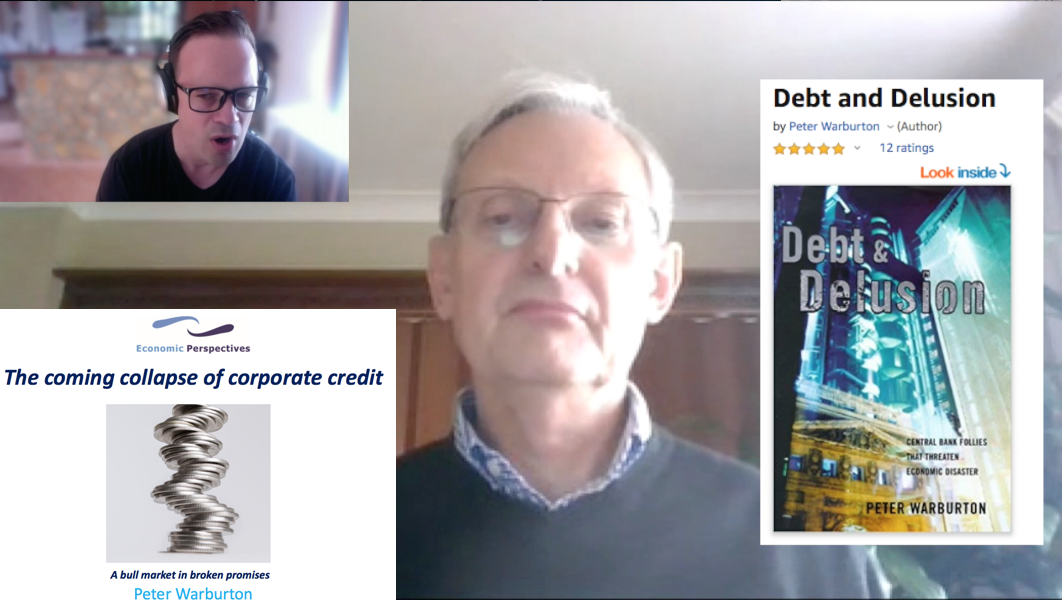 'Debt & Delusion' author Dr. Peter Warburton | Coming Collapse of Credit