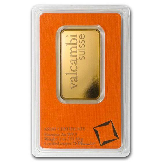 valcambi gold bar reverse