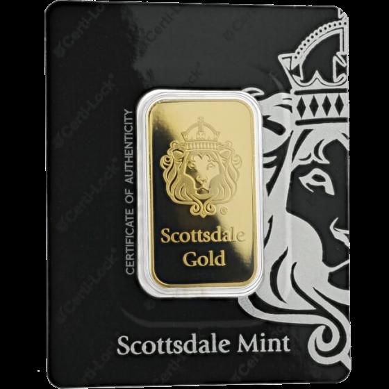 Scottsdale Mint Gold Bars Obverse